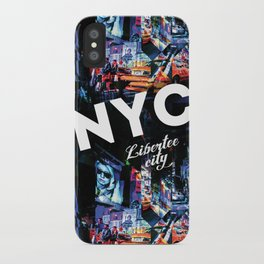 NEW-YORK (LIBERTEE CITY) iPhone Case