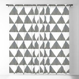 Cement White Triangles Blackout Curtain