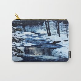 Winter Waterfalls Carry-All Pouch