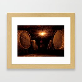 Wine Barrels Framed Art Print