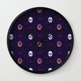 Daft Punk Pattern Wall Clock