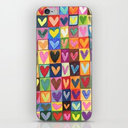 Many hearts and colours iPhone Skin