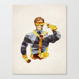Polygon Heroes - Cyclops Canvas Print