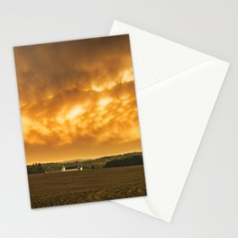 Fiery Skies Over Pennsylvania Landscape Stationery Cards