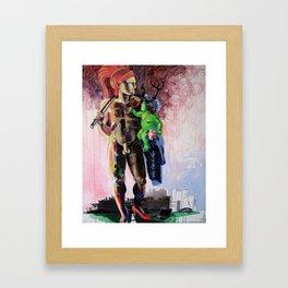 Hermaphrodite with a child Framed Art Print