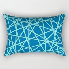Lazer Dance Blue Rectangular Pillow