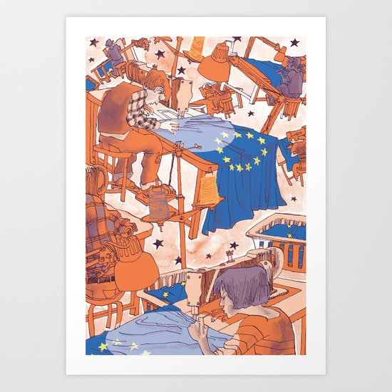European Journal #1 Art Print