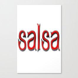 Salsa Abigail Red Canvas Print