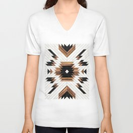 Urban Tribal Pattern No.5 - Aztec - Concrete and Wood Unisex V-Ausschnitt
