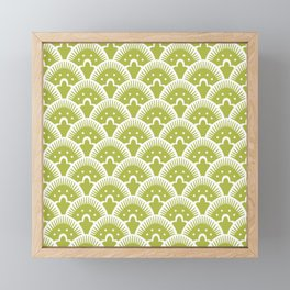 Fan Pattern Chartruese 201 Framed Mini Art Print