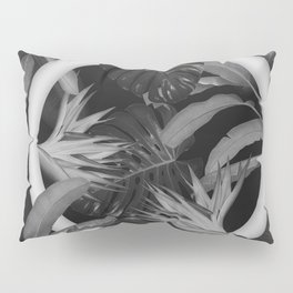 White Circle in Black Forest Pillow Sham