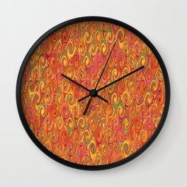 Citrus Swirls Abstract Wall Clock