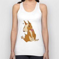 bull terrier Tank Tops featuring Bull Terrier by Kristen Rimmel