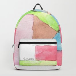 180515 Fitting In 6 | Abstract Watercolors Backpack