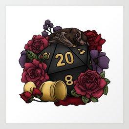 Vampire D20 Tabletop RPG Gaming Dice Art Print