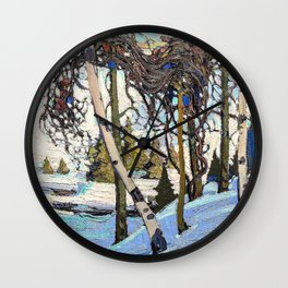 Tom Thomson - Early Snow - Digital Remastered Edition Wall Clock
