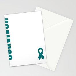 Ovarian Cancer  Cancer Ribbon Stationery Cards