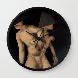 horror gemini zodiac sign Wall Clock