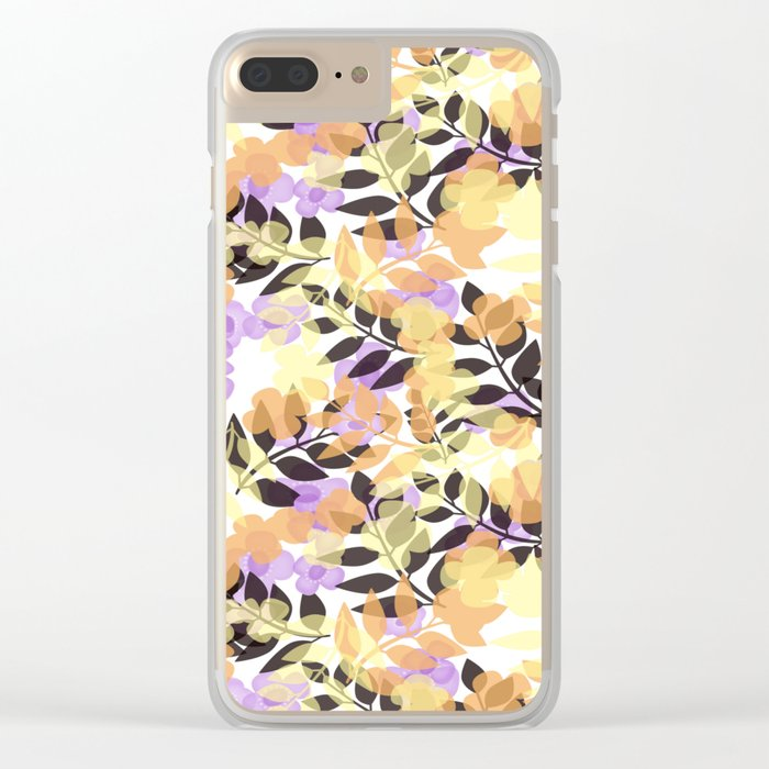 Autumn leaves . Clear iPhone Case