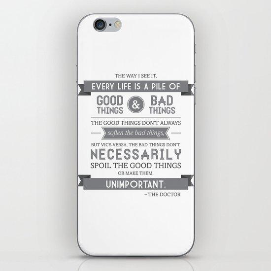 Good Things & Bad Things (gray) iPhone & iPod Skin