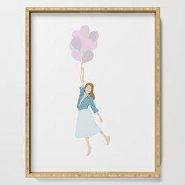 Angie • Fashion Illustration | Art Print | Digital Art  Serving Tray