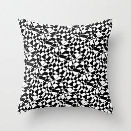 Skank Black Throw Pillow