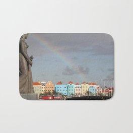 Rainbow over Willemstad Curaçao Bath Mat