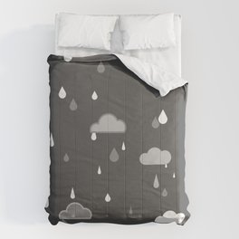 Grey Rains Comforters