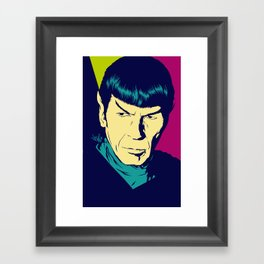 Spock Logic Framed Art Print