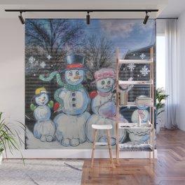 Snowman Family Wall Mural