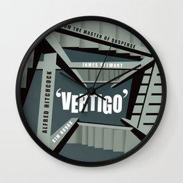 Vertigo - Alternative Movie Poster Wall Clock