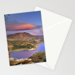 Lenticular clouds at the red sunset Stationery Cards