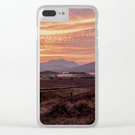 Scotland Ben Nevis mountain at sunrise Clear iPhone Case