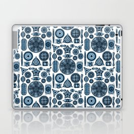 Ernst Haeckel Diatomea Diatoms in Navy Blue Laptop & iPad Skin