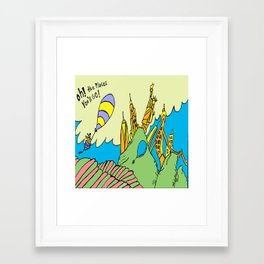 Oh! the places youll go : New York edition Framed Art Print