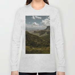Cloudy Vibrant Mountaintop View in Big Bend - Lost Mine Trail Long Sleeve T-shirt