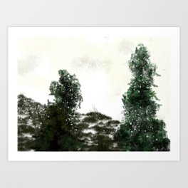 Snow is here to stay Art Print