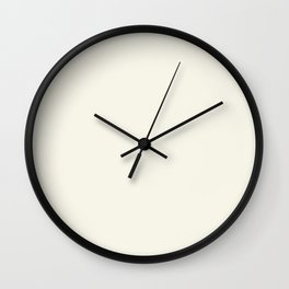 Neutral Off White Cream Solid Color Parable to Betsy's Linen White 7005-16 by Valspar Wall Clock