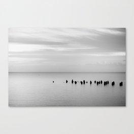 BEACH DAYS XXVIII BW Canvas Print