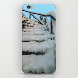 Snowy stairway iPhone Skin