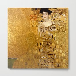 Woman in Gold Portrait by Gustav Klimt Metal Print