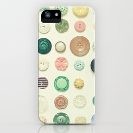 The Button Collection iPhone Case