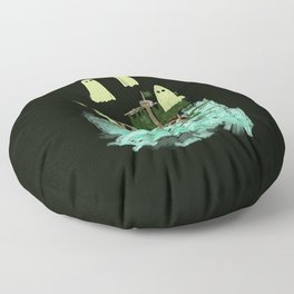 ghost pirate boat Floor Pillow