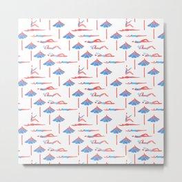sunbathing pattern Metal Print