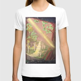 Faery forest cave T-shirt