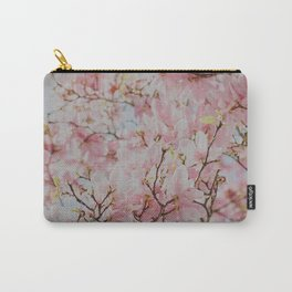 Pastel Pink Magnolias Carry-All Pouch
