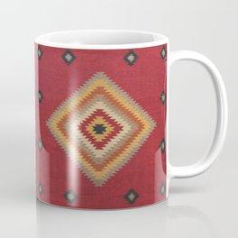 (N14) Red Anthropologie Oriental Moroccan Traditional Artwork. Coffee Mug