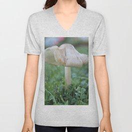 Mushroom Kissed by the Morning Dew Unisex V-Neck