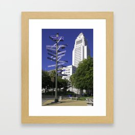 Sister Cities of Los Angeles Framed Art Print
