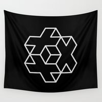 positive Wall Tapestries featuring Positive Dice by Dizzy Moments